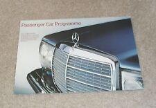 Mercedes Range Brochure Poster 1977 - W123 W116 600 450 SEL 6.9 450 350 280 SL
