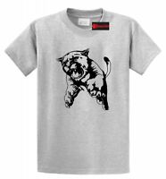 Cougar Full Body Jumping Graphic Tee Animal T Shirt