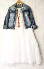 Moonshine Kleid  54 56 58 Weiß Lagenlook Pünktchen Dots Sommer Neu