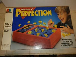 Vintage 1989 Perfection Family Board Game Milton Bradley COMPLETE Tested Working