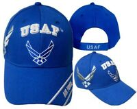 U.S. Air Force Wings Blue (Silver Shadow) Embroidered Cap Licensed CAP603T Hat