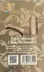 Professional Diamond Clear Nail Tips X100