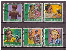 Guinea - Kampf gegen Pocken und Masern MiNr. 553 - 558, 1970 used