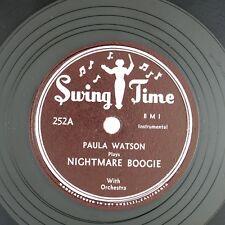 PAULA WATSON Nightmare Boogie/Pretty Papa Blues 10IN1952 BLUES NM- LISTEN!!!!