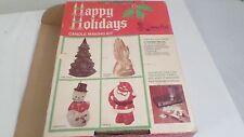 Vintage Walnut Hill Happy Holidays Candle Making Kit in box Snowman & Santa