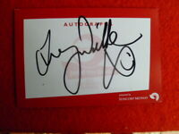 AUSTRALIA SWIMMING LEGEND TRACY WICKHAM HAND SIGNED CARD 15X10CM