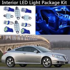 5PCS Bulbs Blue LED Interior Car Lights Package kit Fit 2005-2010 Pontiac G6 J1
