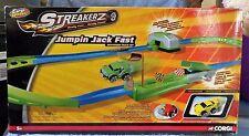 CORGI WHEELZ STREAKERZ JUMPIN JACK FAST TRACK SET & EXTREME EDGE CAR 2 PACK