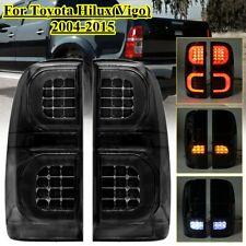 Rear Tail Light For Toyota Hilux Vigo MK7 SR5 2004-2015 Pair LED Smoke Black