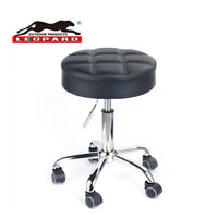 Leopard Round Rolling Stools,Adjustable Work Stool With Wheels