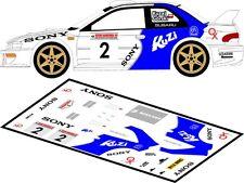 DECALS 1/43 SUBARU IMPREZA WRC - #2 - KUZAJ - RALLYE DE BARBORKA 1999 - D43125
