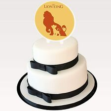 """Lion King Cartoon Cake Topper 6"""" Width x 3"""" Stakes Two-Sided Image Favor Decor"""