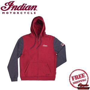 INDIAN MOTORCYCLE BRAND MEN'S LEGEND HOODIE SWEAT SHIRT RED