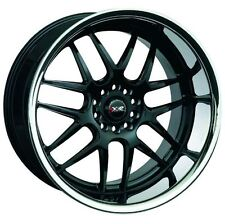 One 18X10.5 XXR 526 5x114.3/120 +20 Black/Silver Stainless Chrome Lip Wheel