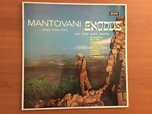 Vinyl LP - Mantovani plays music from EXODUS and other great themes