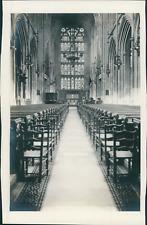 France, Vue intérieure d'une cathédrale gothique, ca.1905, vintage silver p
