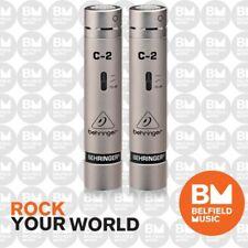 Behringer C2 Studio Condenser Microphones C-2 Matched Pair Condensor Mic - New