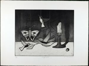 Vintage Aquatint Etching by Thomas O'Donoghue, Black / White, Limited Edition 99