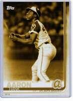 Hank Aaron 2019 Topps Update Complete Atlanta Braves Alumni 5x7 Gold #BAPC-3 /10