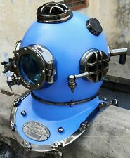 Blue Vintage Diving Divers Helmet  Deep Sea Vintage Mark V Anchor Engineering
