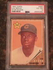 1962 Topps Lou Brock Chicago Cubs #387 Baseball Card PSA 4