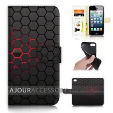 ( For iPhone 5 / 5S ) Wallet Flip Case Cover AJ40384 Abstract Cell