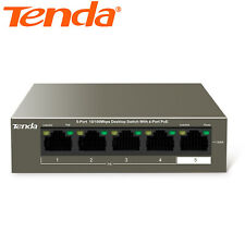 Tenda 5-port 10/100Mbps 4 Port Fast PoE Switch CCTV IP Cameras No Configuration
