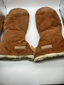 Vintage Goodwear Suede Leather Insulated Winter Mittens Made In Canada Size XL