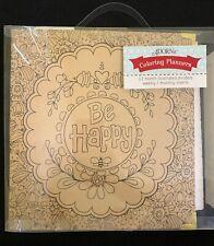 Adorn-It Coloring Planner 3 Ring 2� Binder Bee Happy 12 Mon. Calendar Hard Cover