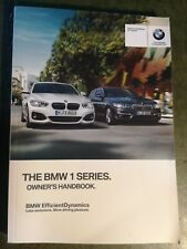 BMW 1 Series Owners Manual / Handbook  2015 2017