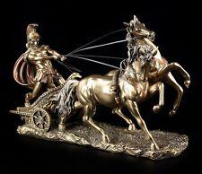 Römer Figur im antiken Streitwagen - Statue Veronese römisch