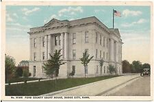 Ford County Court House in Dodge City KS Postcard 1920