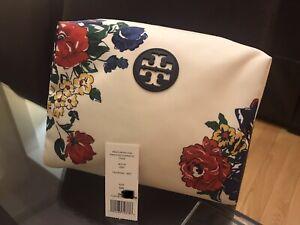 NWT Tory Burch Medium Cosmetic Bag Tea Rose
