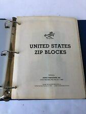 United States Zip Block Stamp album minkus 1964-1981