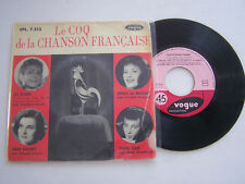 EP 45 TOURS VINYLE , LE COQ DE LA CHANSON FRANCAISE , JOCYA , RENARD . VG - / VG