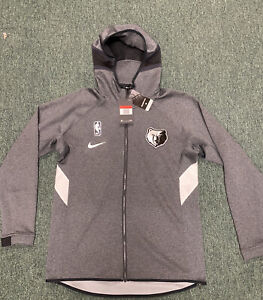 Memphis Grizzlies Nike Therma Flex Showtime  Hoodie 19/20 AV0816-032 Gray Size L
