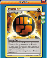 Pokemon TCGO ONLINE x4 Strong Energy 115/124 (DIGITAL CARD) Special Energy