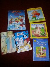 Lot of 6 Children's Books Digby Toes Gingerbread 101 Dalmations Disney Goodnight