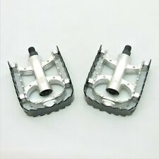 "BMX Alloy - Black/Silver Pedals 1/2"" Thread"