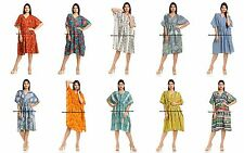 WHOLESALE BULK LOT OF 5 MIXED STYLE COTTON Kaftan Top/Beach Cover INDIAN DRESS