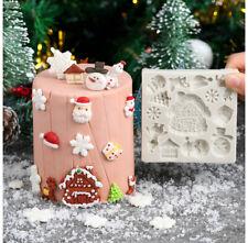 Silicone Christmas Cake Mold Fondant Snowflake Baking Chocolate Mould Sugarcraft