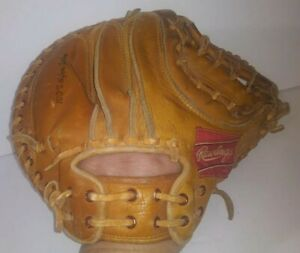 Vintage Rawlings Johnny Bench 6414 Catcher Mitt Professional Model Japan