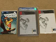 Wonder Woman 7 CGC 9.8 White Pages- Sketch Variant New 52 + magnet