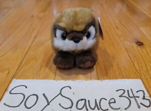 NEW SWIBCO PUFFKINS SCOOTER THE CHIPMUNK STUFFED ANIMAL COLLECTIBLE PLUSH