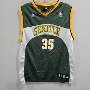 VTG adidas Seattle Supersonics Sonics Kevin Durant 35 Rookie Jersey Youth XL