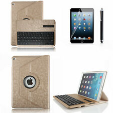 360 Rotating for iPad Air 2 Leather Case Cover With Removable Bluetooth Keyboard