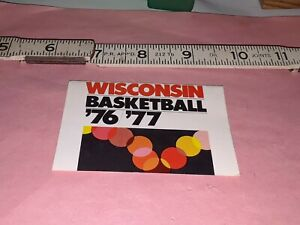 1976-77 WISCONSIN BADGERS College Basketball Schedule