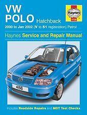 Haynes propietarios + Taller de coche Manual Vw Polo Gasolina Hatchback Gasolina (00-02) 4150