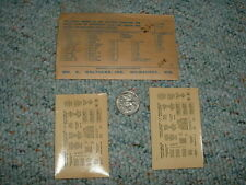 Walthers decals O Gauge Data Markings D63