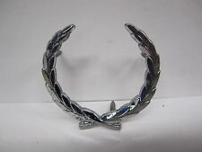 CADILLAC wreath ROOF PILLAR EMBLEM ORNAMENT WITH PINS CHROME BRIGHT
